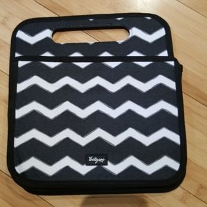 thirty-one double-duty black chevron caddy